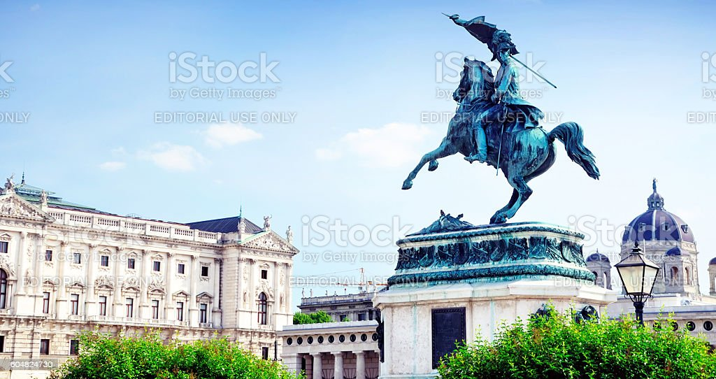 Heldenplatz, Vienna stock photo