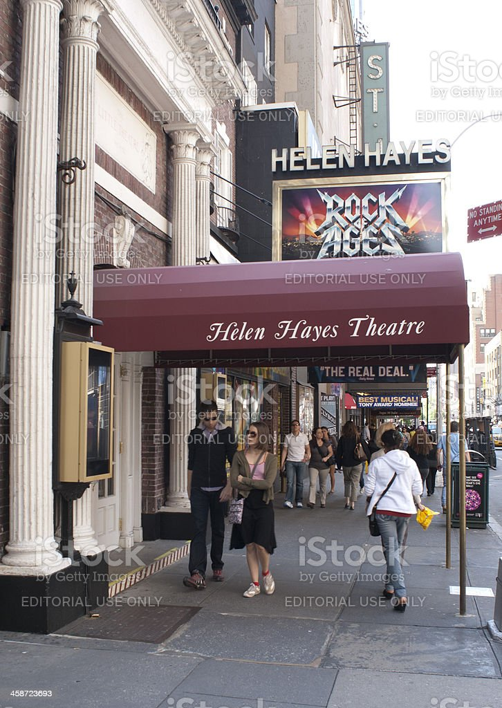 Helen Hayes Theater royalty-free stock photo