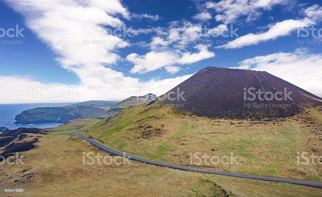Helgafell volcano, Heimaey, Westman islands, Iceland stock photo