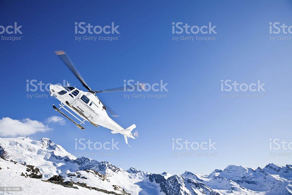 Heli Skiing Helicopter stock photo