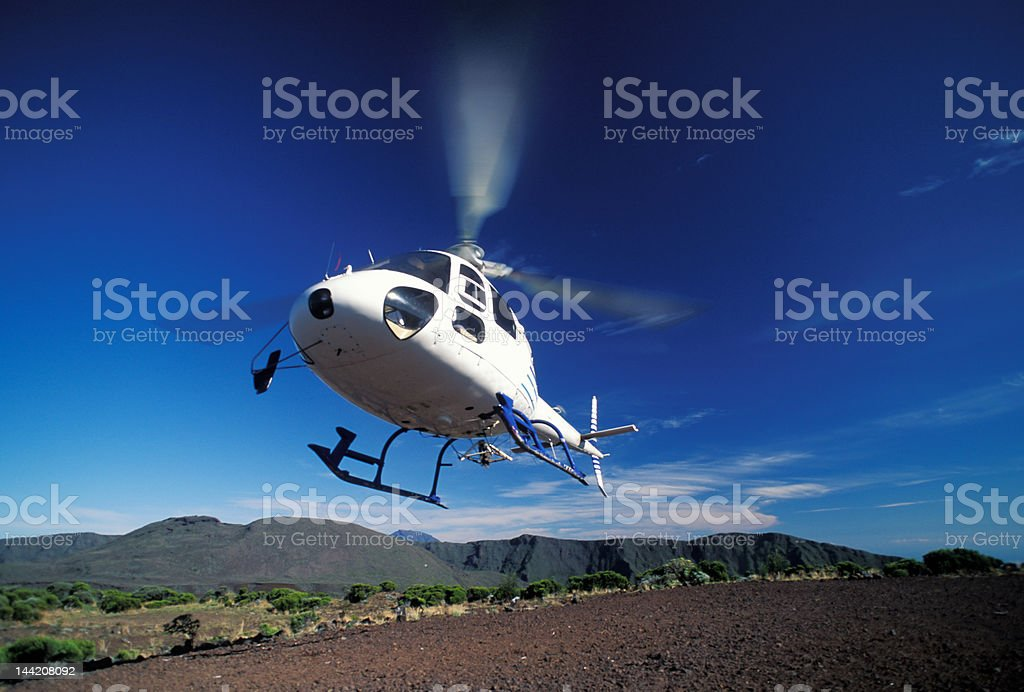 Helicopter a la Reunion royalty-free stock photo