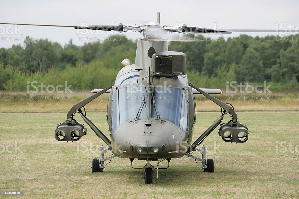 Helicopter about to take-off royalty-free stock photo
