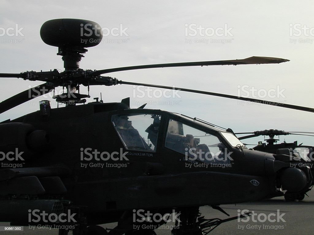 Helicopter Apache Attack royalty-free stock photo