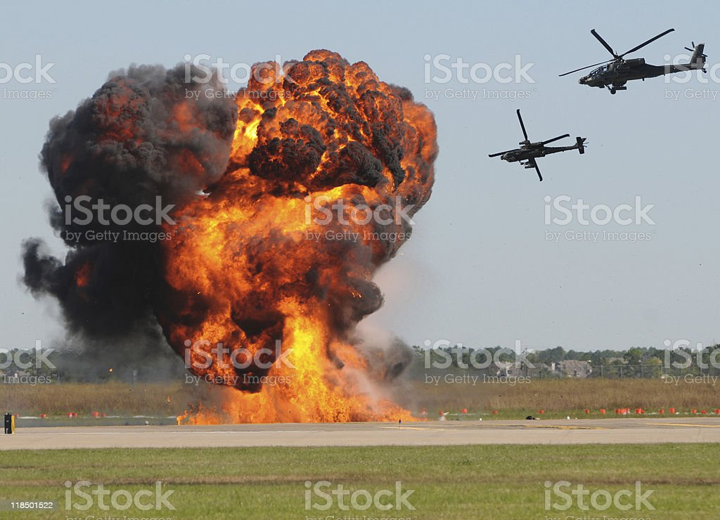 helicopter attack stock photo