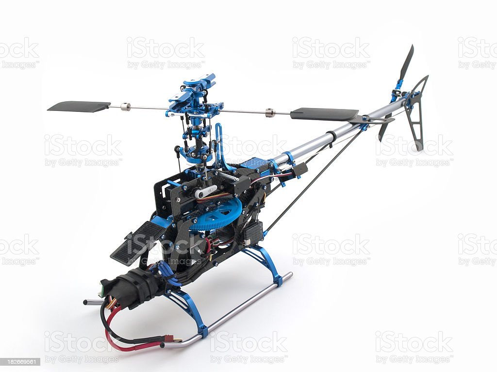 Helicopter build stock photo