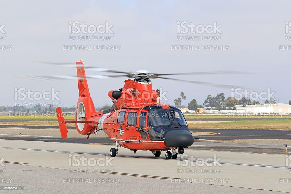 Helicopter Coast Guard MH-60 Jayhawk stock photo