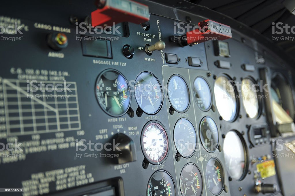 Helicopter Cockpit royalty-free stock photo