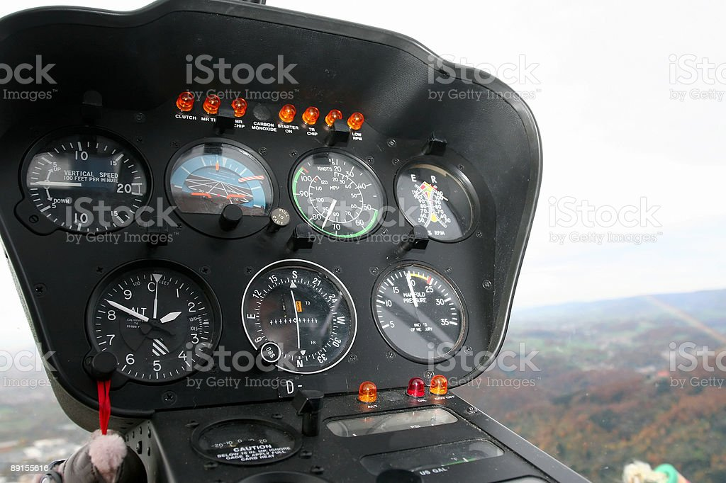 Helicopter Dashboard royalty-free stock photo