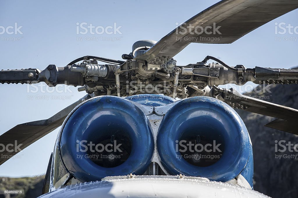 Helicopter Detail stock photo