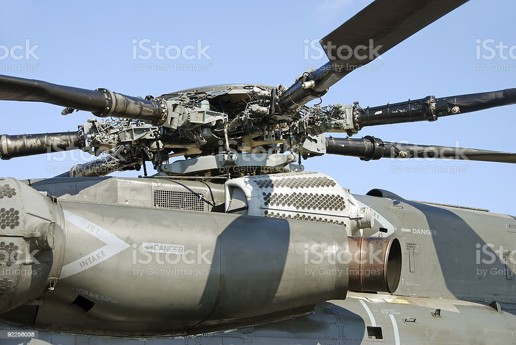 Helicopter engine royalty-free stock photo