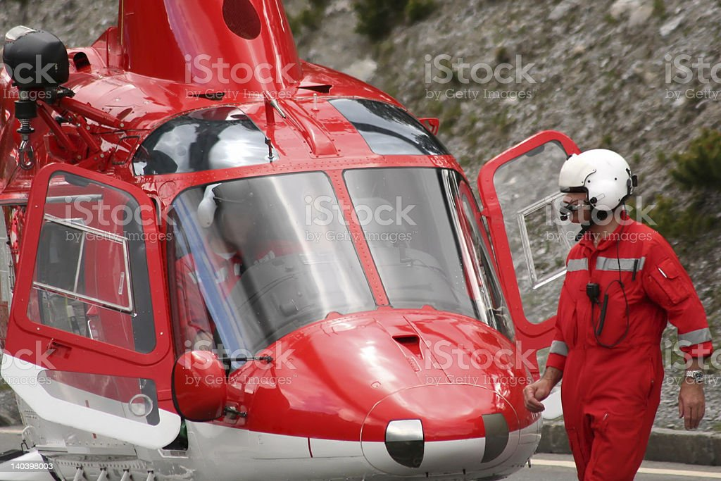 'Helicopter', Equip of emergencies, Traffic accident stock photo