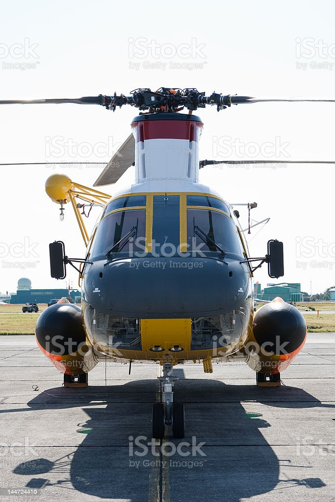 Helicopter front view royalty-free stock photo