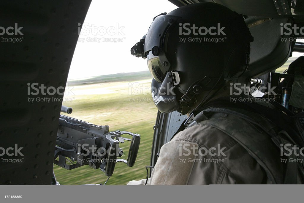 Helicopter Gunner royalty-free stock photo