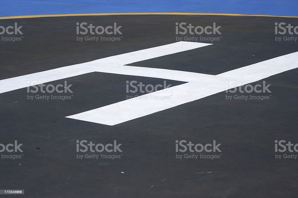 Helicopter H landing symbol royalty-free stock photo