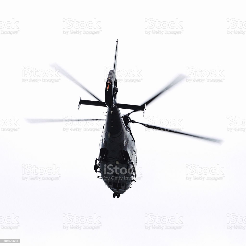 Helicopter in flight. royalty-free stock photo