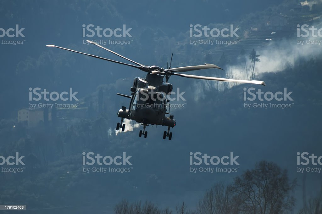 Helicopter in front royalty-free stock photo