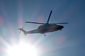 Helicopter in mid-air