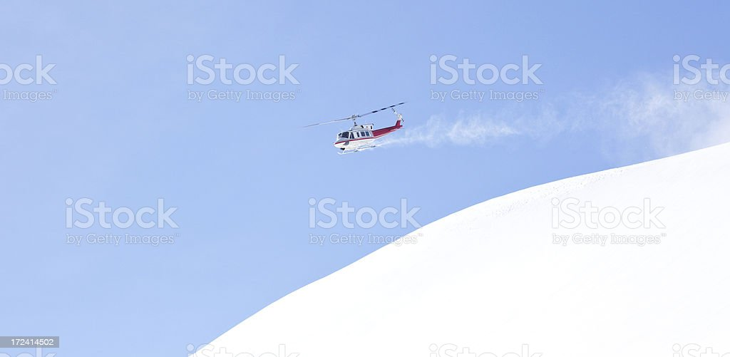 Helicopter in Winter royalty-free stock photo