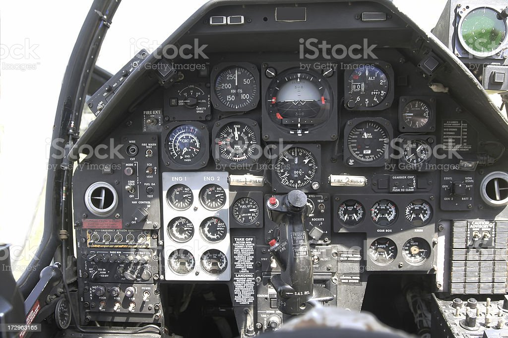 Helicopter instruments,  Cockpit  Series royalty-free stock photo