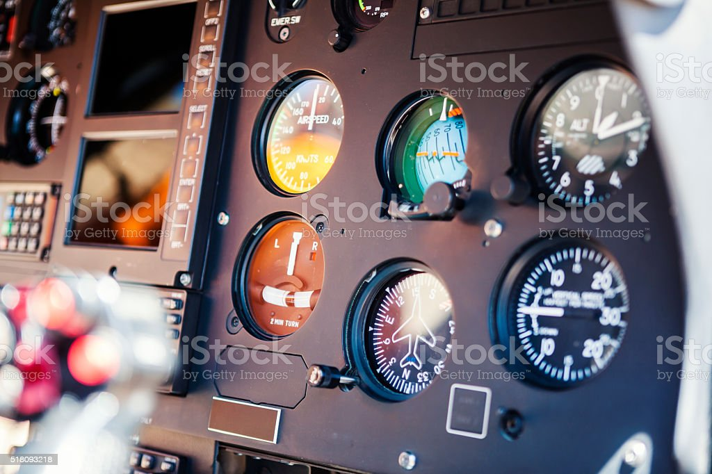 Helicopter Instruments stock photo