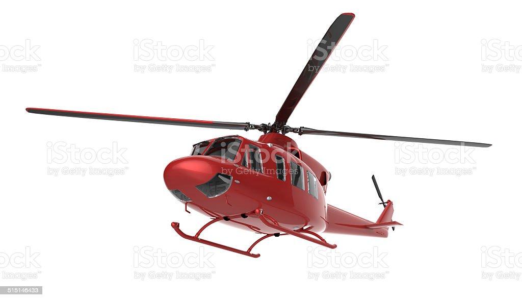 Helicopter isolated on white background stock photo