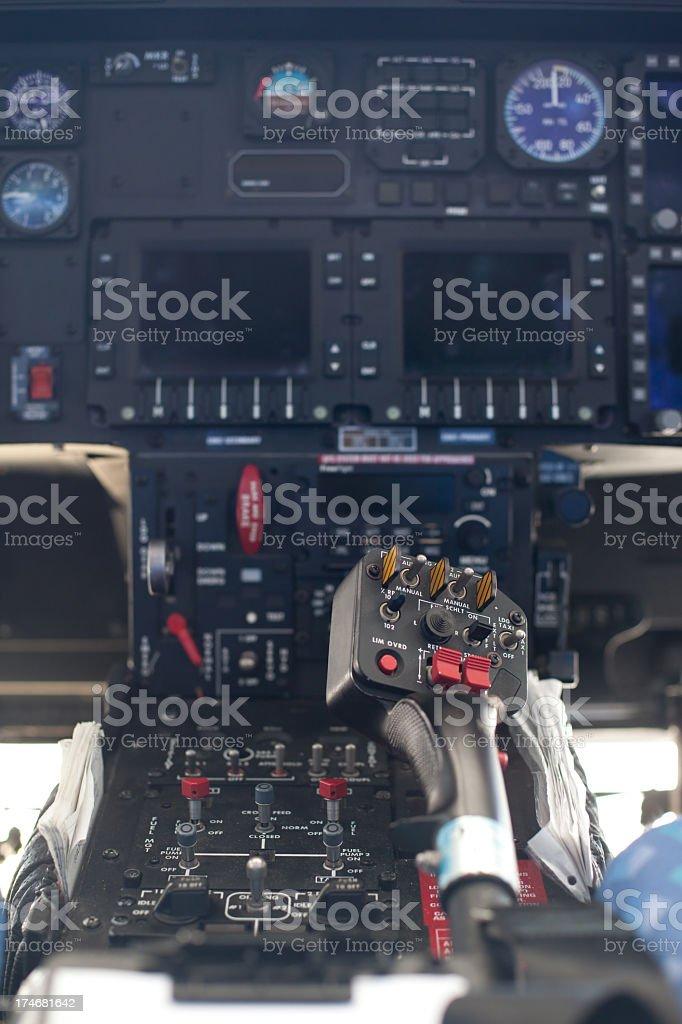 Helicopter Joystick royalty-free stock photo