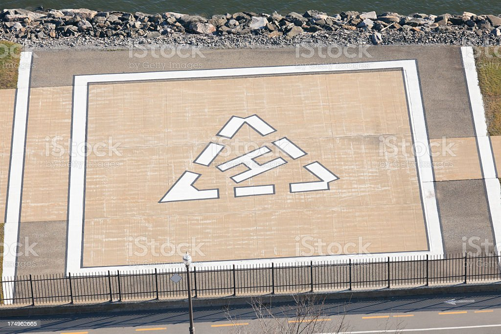 Helicopter Launch Pad H stock photo