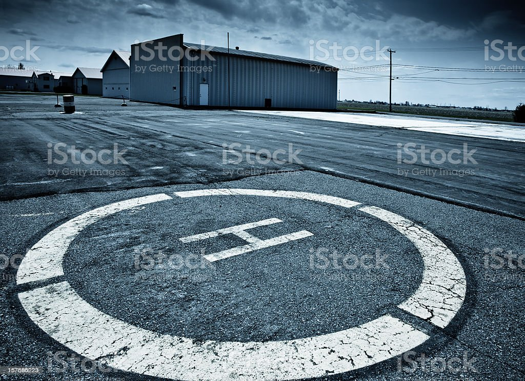 Helicopter Launch Pad royalty-free stock photo