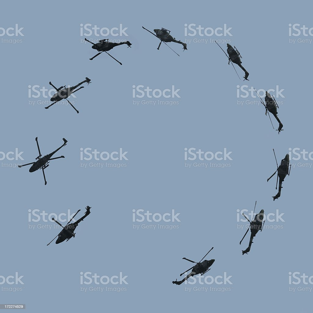 Helicopter Looping royalty-free stock photo