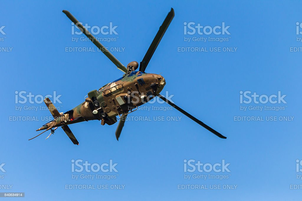 Helicopter Military Flying stock photo
