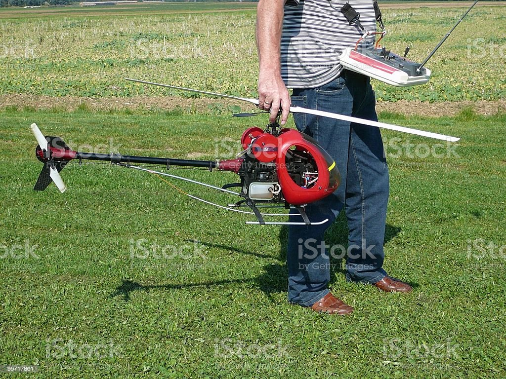 Helikoptermodell stock photo