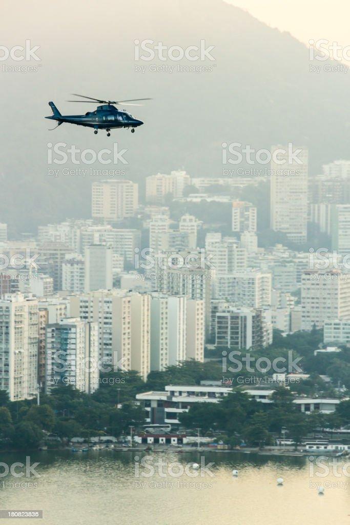 Helicopter over Rio de Janeiro royalty-free stock photo