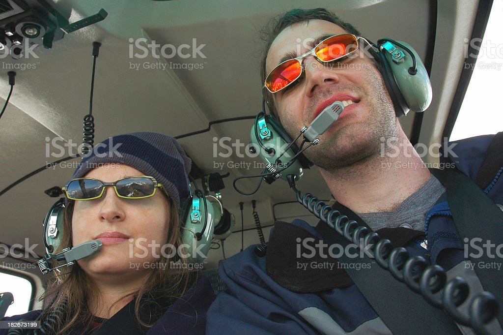 Helicopter Passangers stock photo