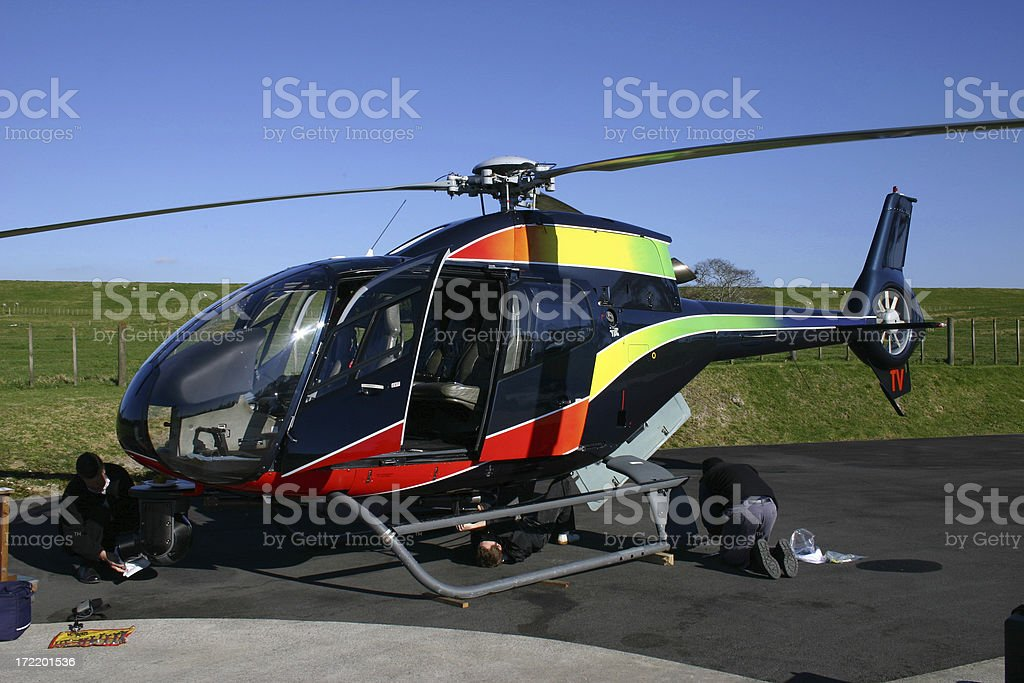 TV Helicopter stock photo
