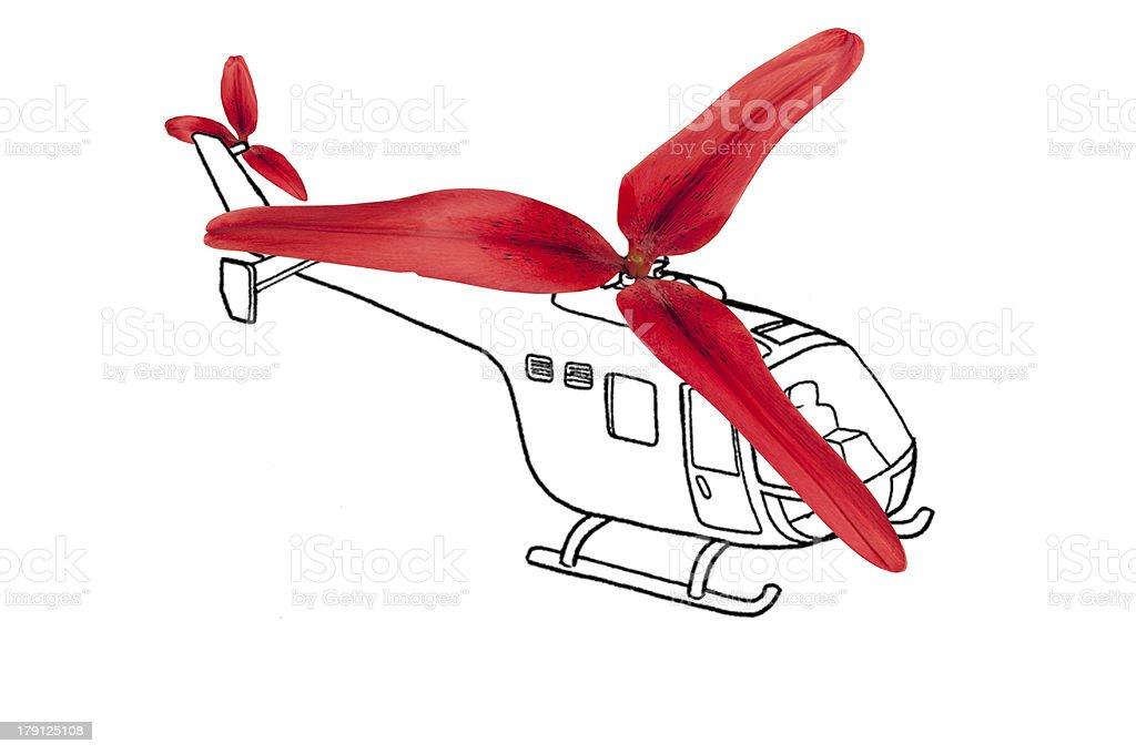 Helikopter zbiór zdjęć royalty-free
