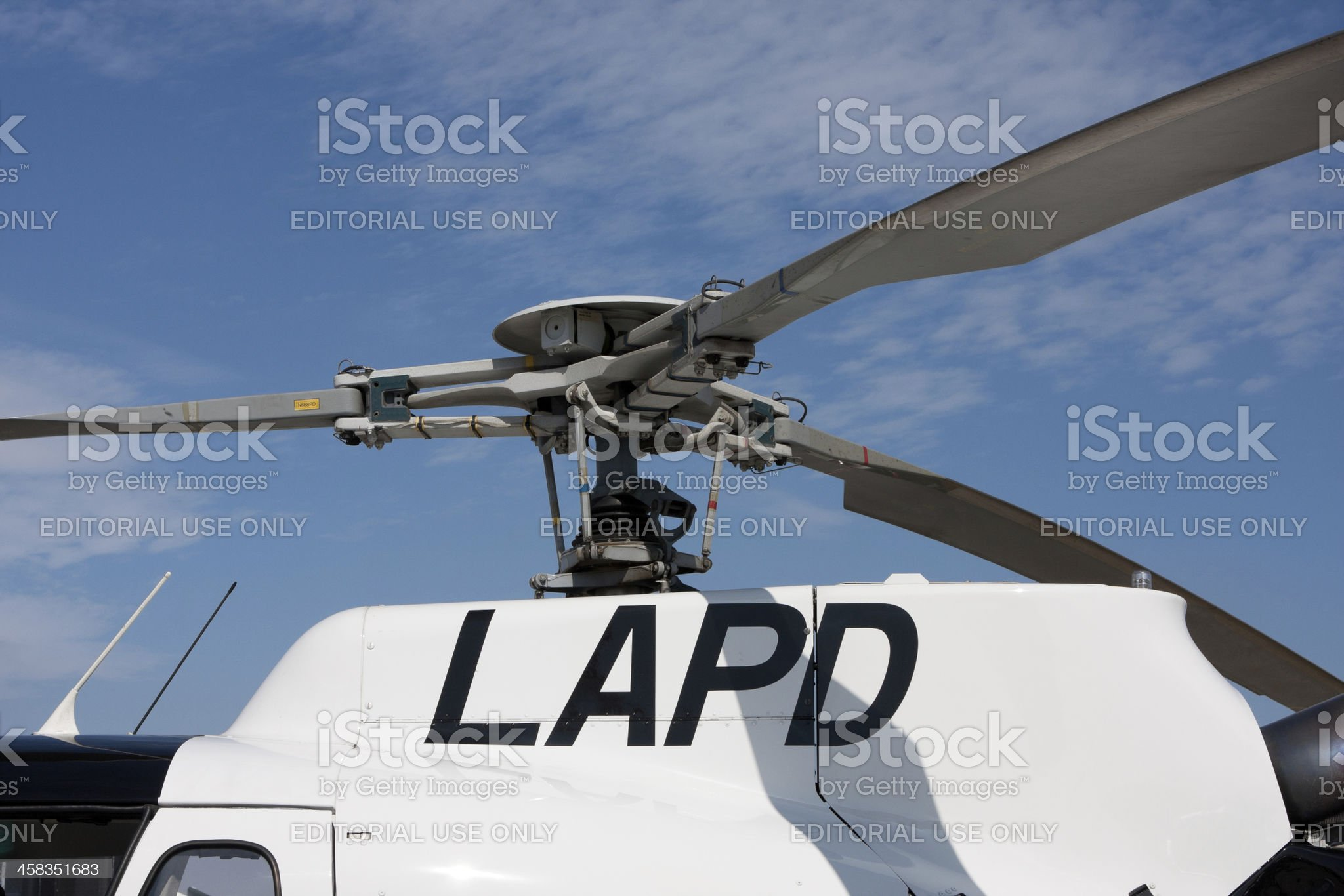 LAPD Helicopter royalty-free stock photo