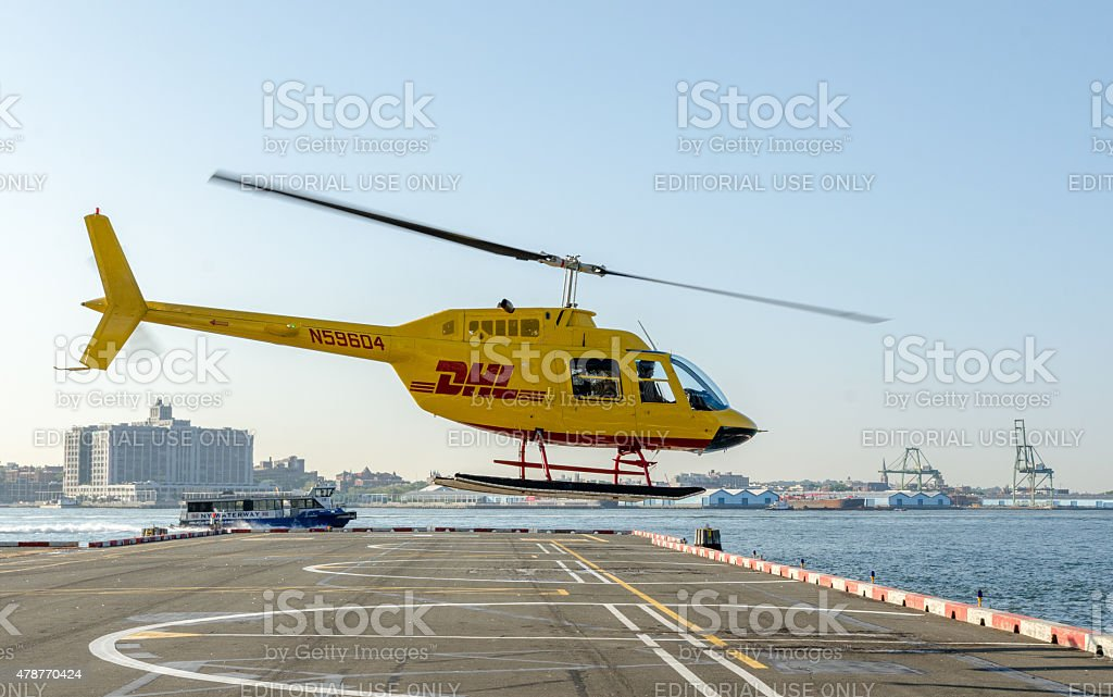 DHL Helicopter stock photo