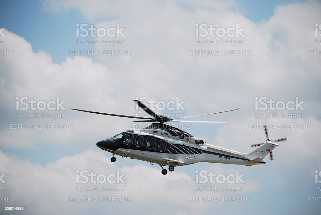 AW-139 Helicopter stock photo
