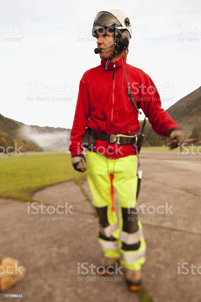 Helicopter Pilot royalty-free stock photo