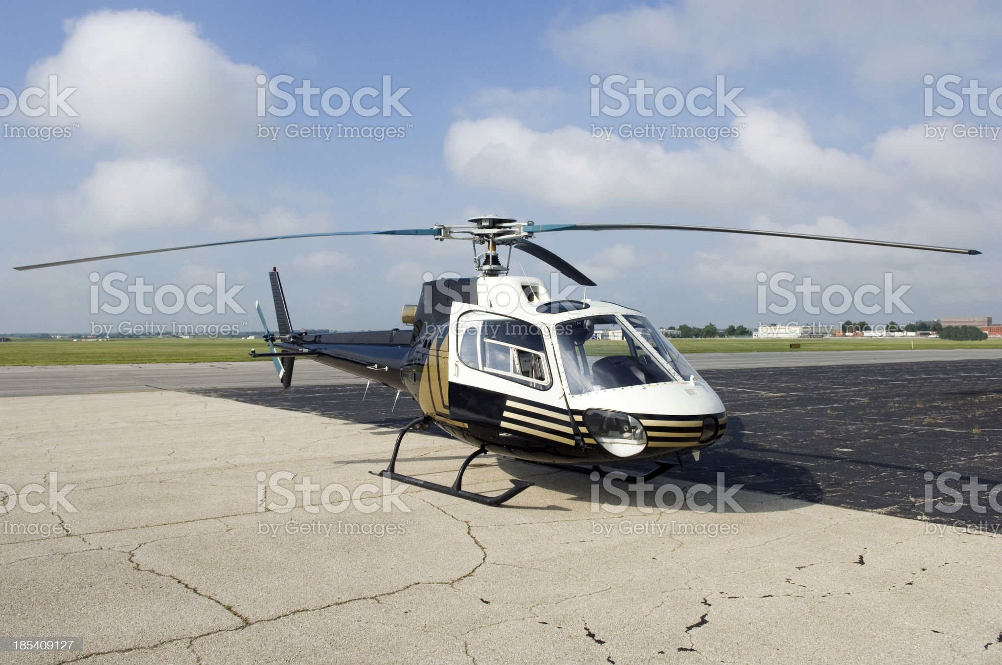 Helicopter Ready for Take Off royalty-free stock photo