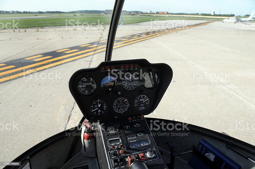 Helicopter Ready To Depart royalty-free stock photo