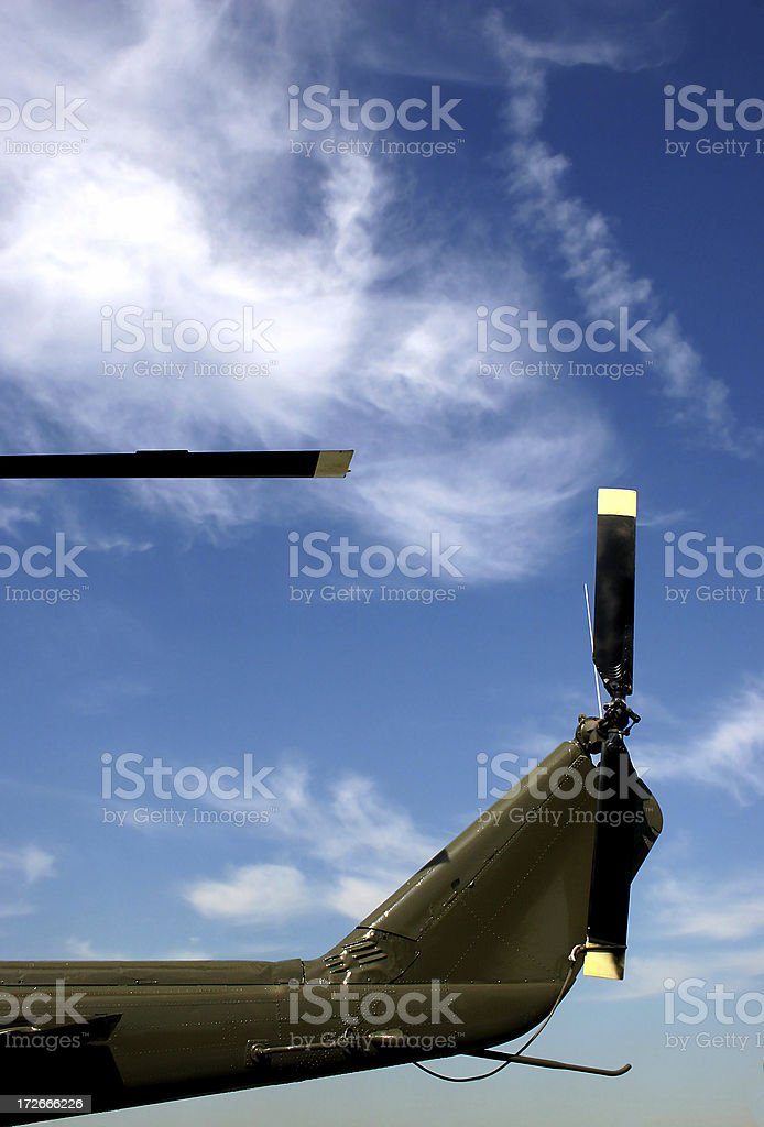 helicopter rear UH-1M Huey royalty-free stock photo