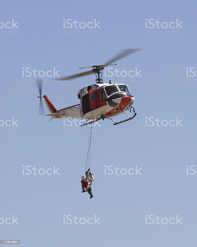helicopter rescue royalty-free stock photo