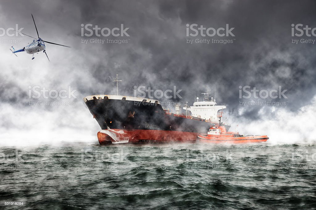 Helicopter Rescue stock photo
