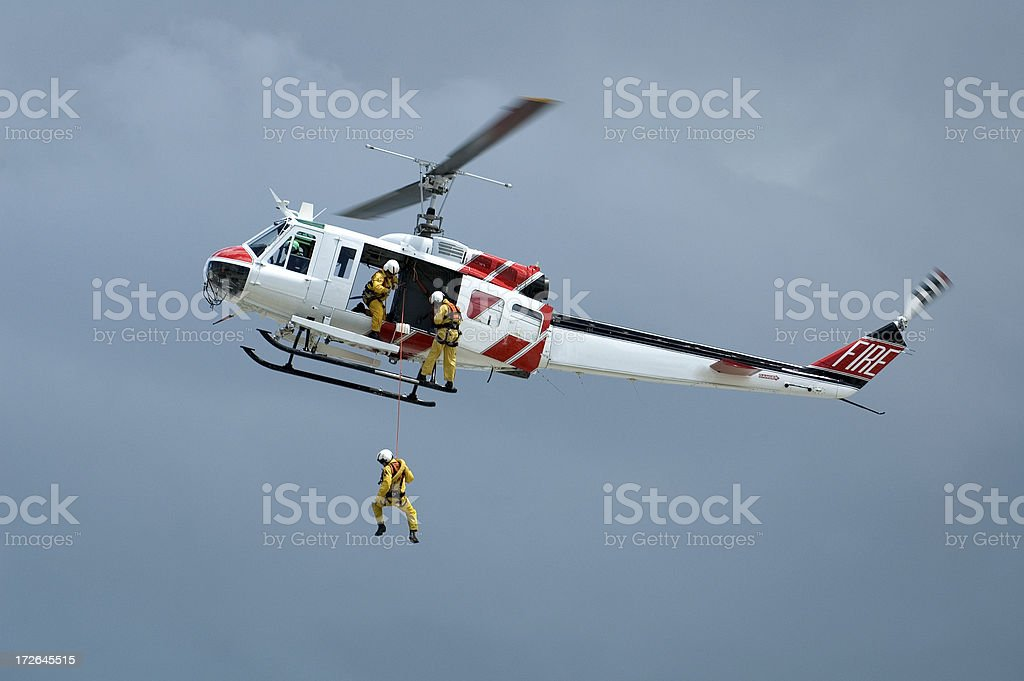 Helicopter Rescue Series stock photo
