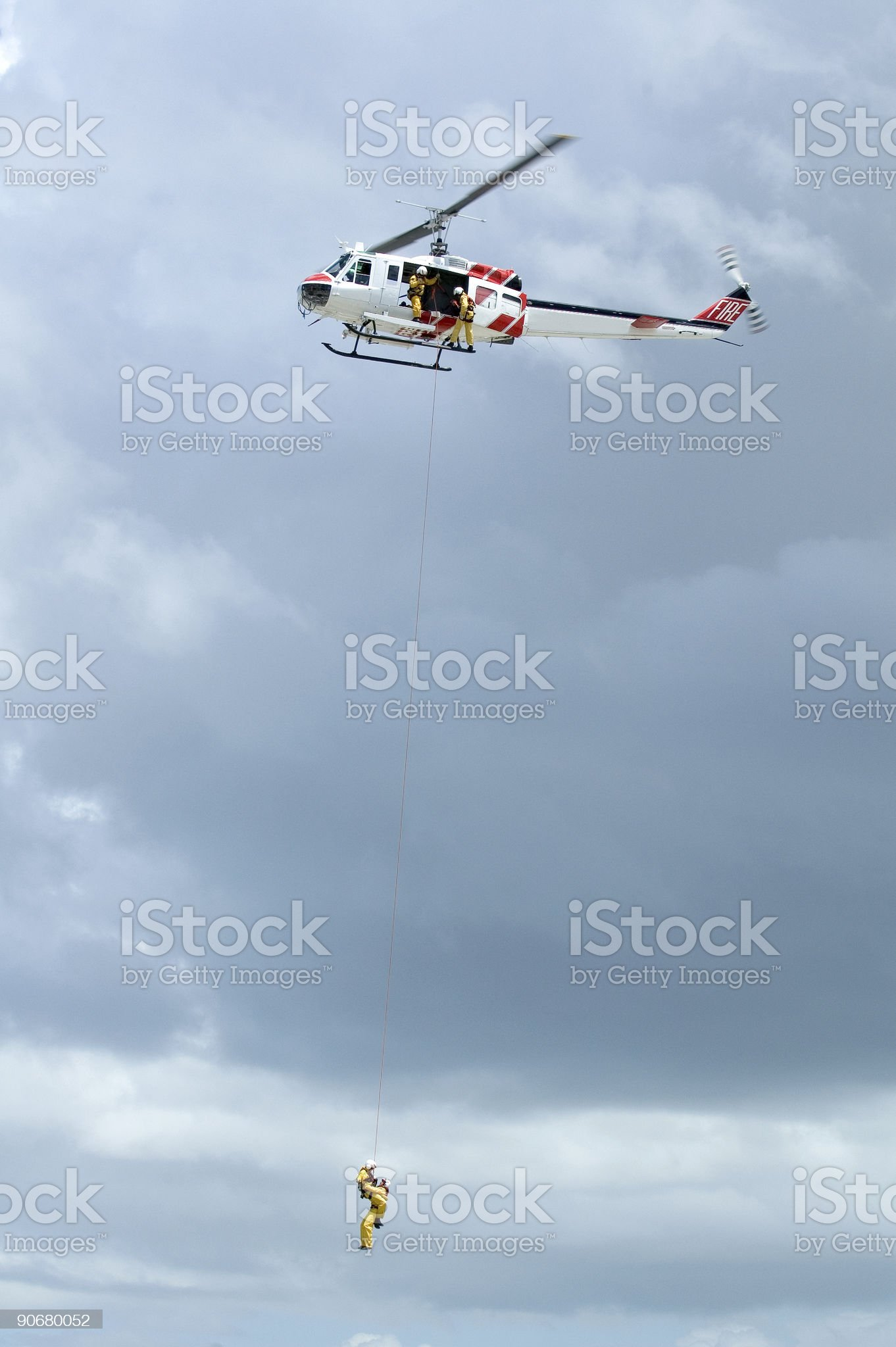 Helicopter Rescue Series royalty-free stock photo