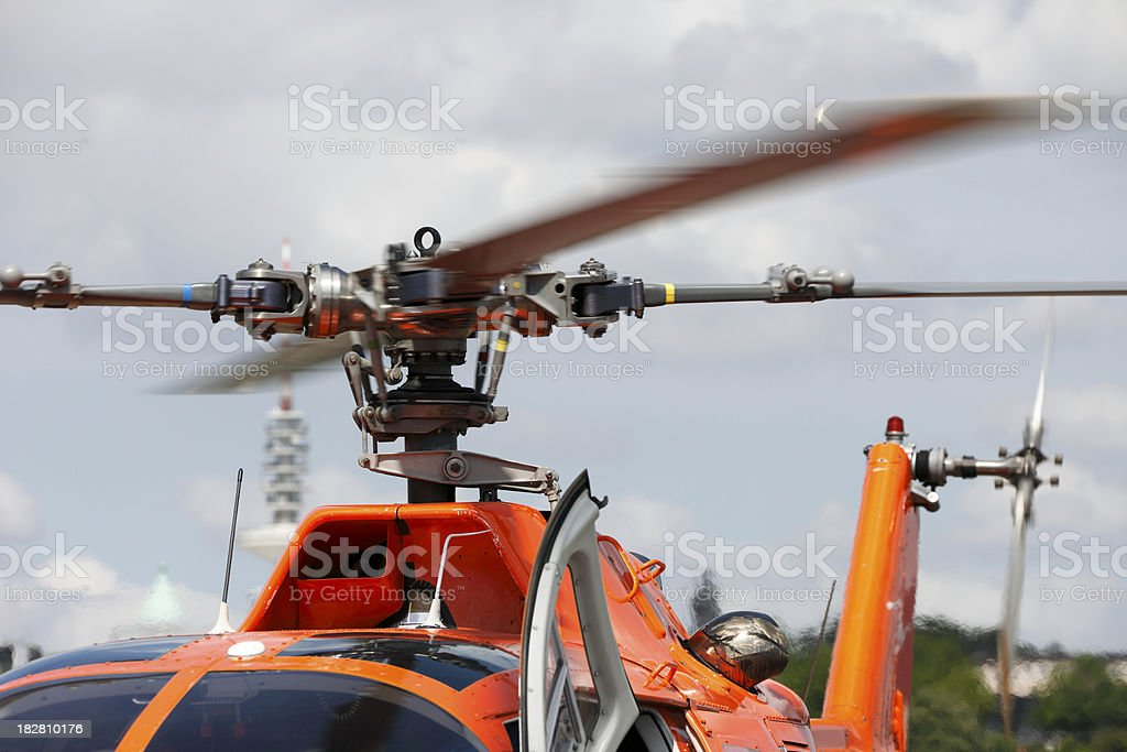 Helicopter Rotor Blades stock photo