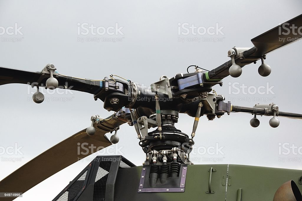 Helicopter rotor stock photo