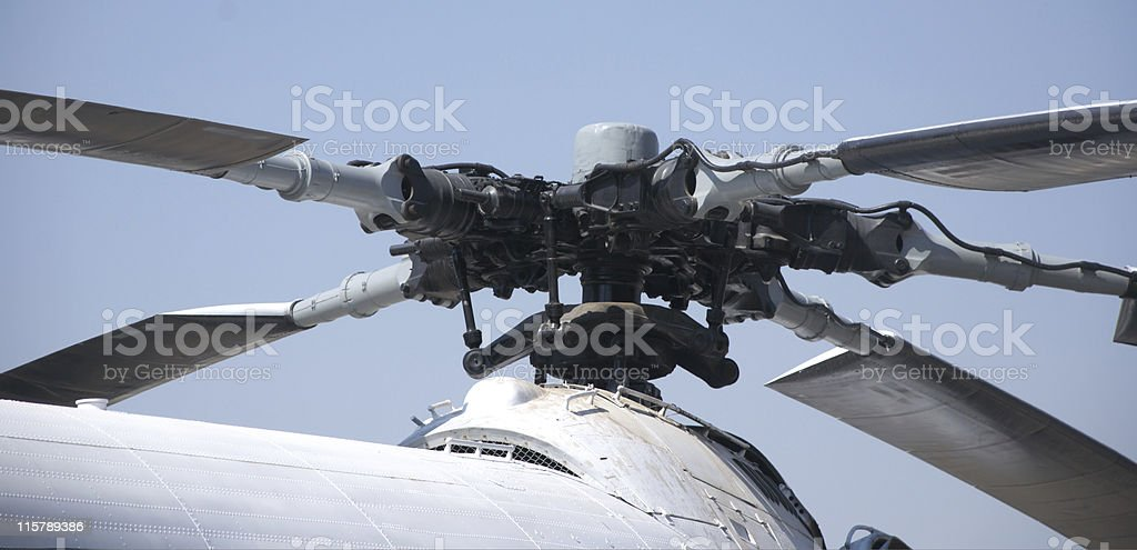 helicopter rotors stock photo