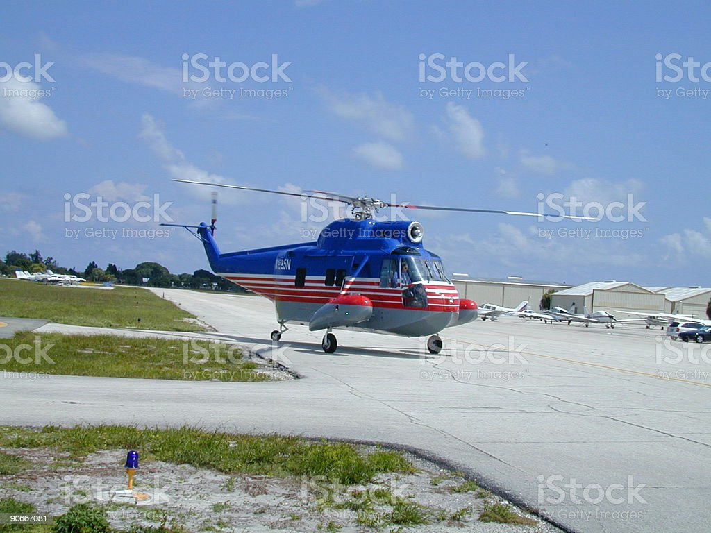 Helicopter Sikorsky S-62 stock photo